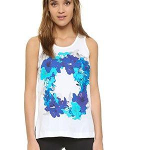 Adidas Stella McCartney White Blossom Tank Top S
